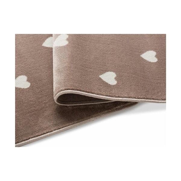 Hnědý koberec s puntíky KICOTI Beige Dots, 240 x 330 cm