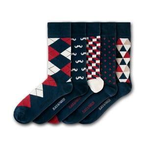 Sada 5 ponožek Black&Parker London Holbrook Garden, velikost 37 – 43