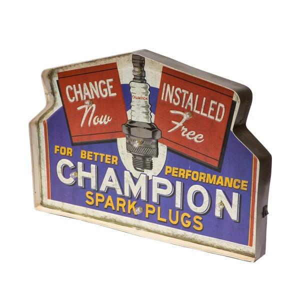 Cedule na stěnu s LED světly Novita Champion