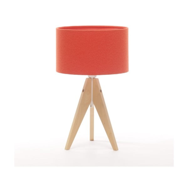 Stolní lampa Artista Natural Birch/Red Felt, 28 cm