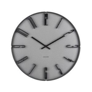 Šedé nástěnné hodiny s manšestrem Karlsson Sentient, ⌀40 cm