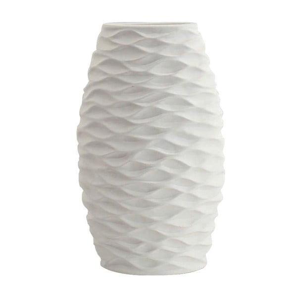 Keramická váza, bílá, 32,5 cm