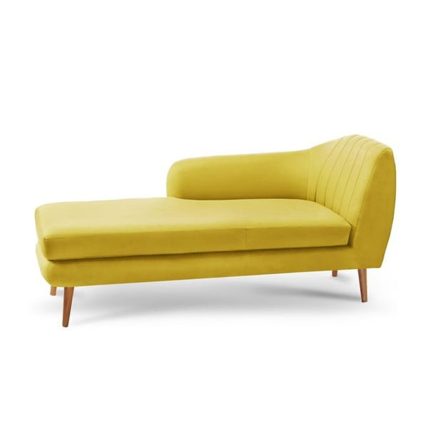 Żółty szezlong lewostronny Scandi by Stella Cadente Maison