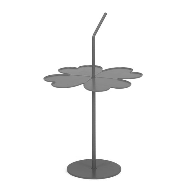 Šedý odkládací stolek Garageeight A Four Leaf