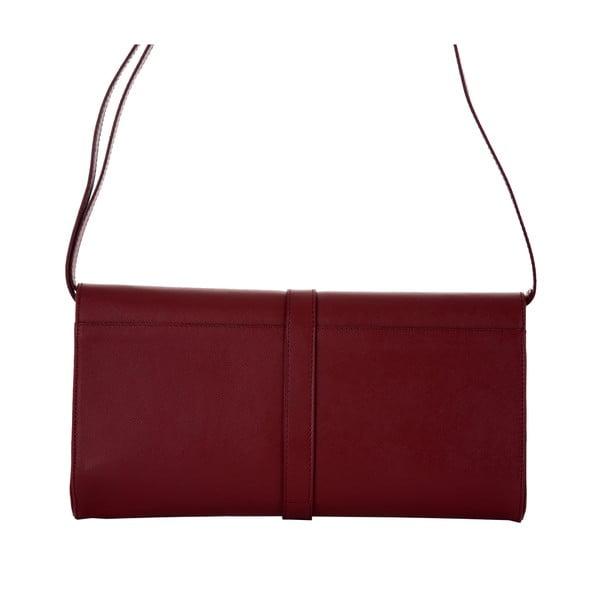 Rubínově červená kožená kabelka Andrea Cardone 1010