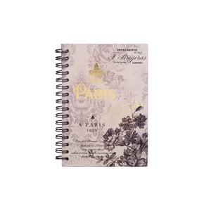 Spirálový zápisník Tri-Coastal Design Paris 1829