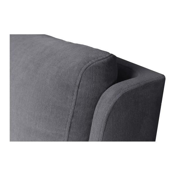 Šedá dvoulůžková postel Mazzini Beds Vicky, 180x200cm