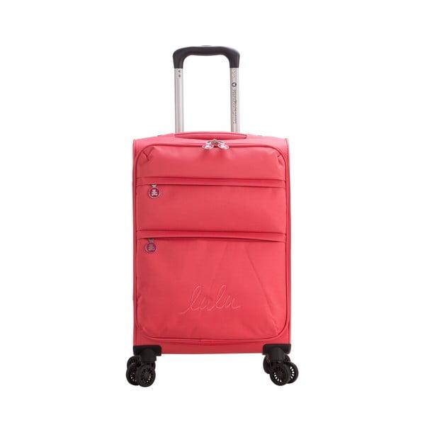 Różowa walizka z 4 kółkami Lulucastagnette Luciana, 71 l