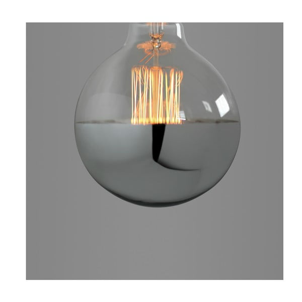 Žárovka Super Globe Silver Edison E27 40W