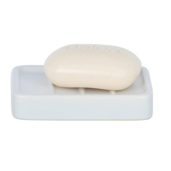 Matně bílý keramická mýdlenka Wenko Hexa