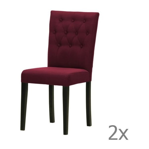 Sada 2 židlí Monako Etna Dark Violet, černé nohy