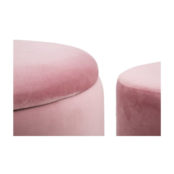 Sada 2 růžových taburetek Mauro Ferretti Constanzo