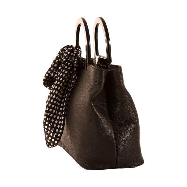 Tmavě hnědá kabelka z pravé kůže Andrea Cardone Angelo