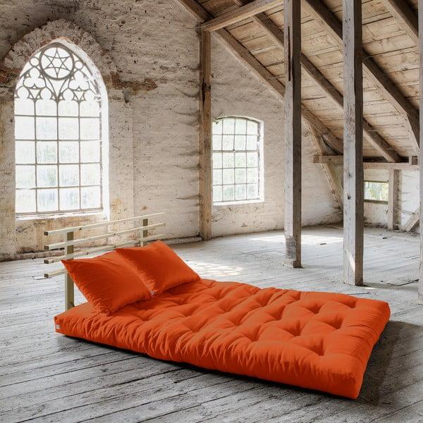 Rozkládací pohovka Karup Shin Sano Natur/Orange