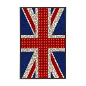 Vysoce odolný koberec Floorita Welcome Union Jack, 50 x 75 cm
