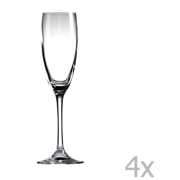 Sada 4 sklenic na šampaňské Sola Champagner, 170ml
