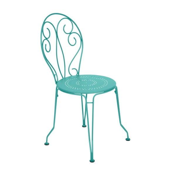 Nebesky modrá kovová židle Fermob Montmartre