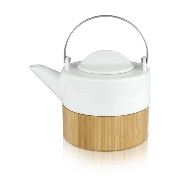 Konvice Bamboo, 0,75 litru, bílá
