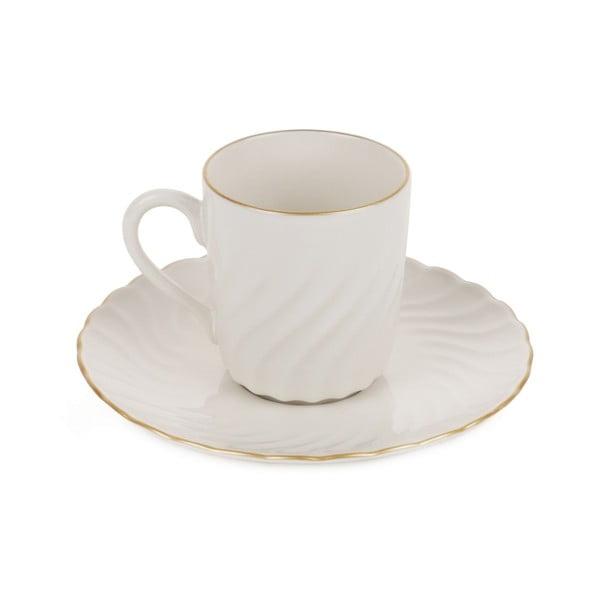 Sada 6 porcelánových hrnků s podšálkem Agathon, 50 ml