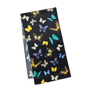 Šátek z hedvábného saténu Von Lilienfeld Butterflies Dance