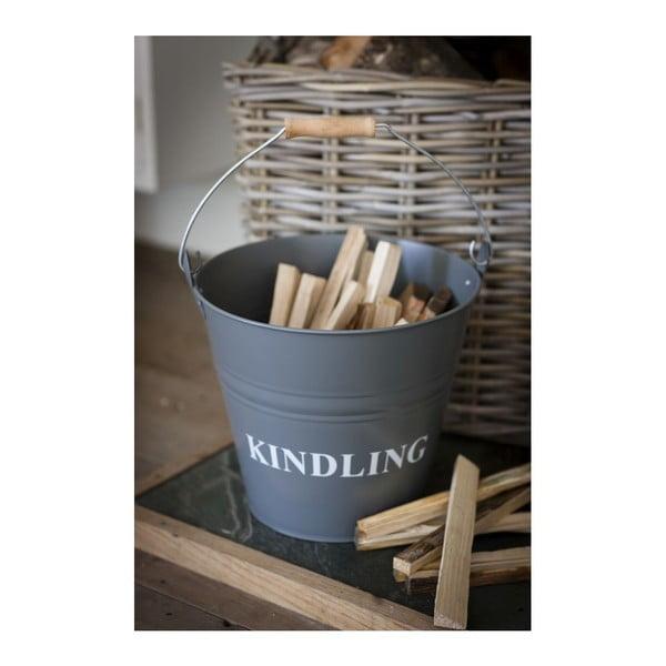 Kýbl s poklopem na dřevo Kindling
