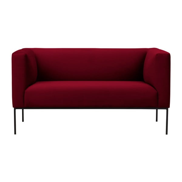 Červená sametová dvoumístná pohovka Windsor & Co Sofas Neptune