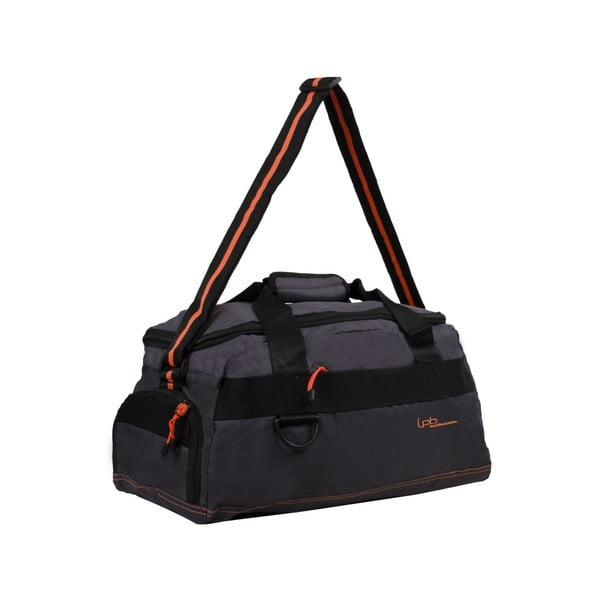 Szara torba podróżna z pomarańczową lamówką Les P'tites Bombes Toulouse