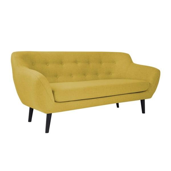 Žlutá 3místná pohovka Mazzini Sofas Piemont