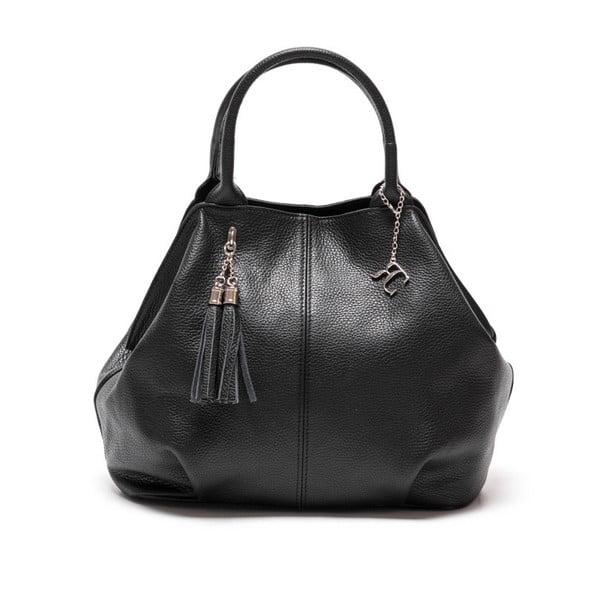 Kožená kabelka Renata Corsi 1076 Nero