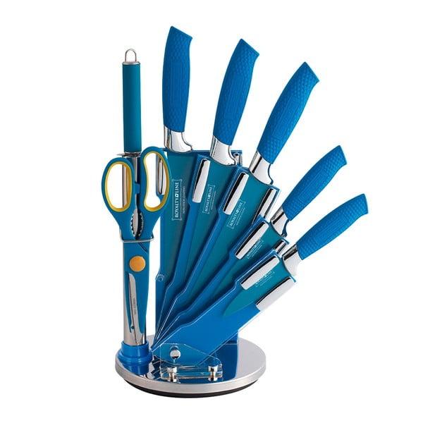 7dílná sada nožů ve stojanu Color, modrá