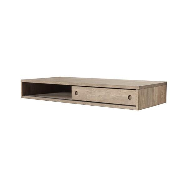 Pracovný stôl z dubového dreva so zásuvkou k nástennej zostave WOOOD Gyan