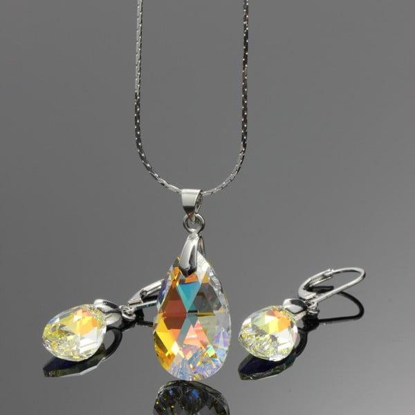 Set náhrdelníku a náušnic Yasmine Clear Crystal