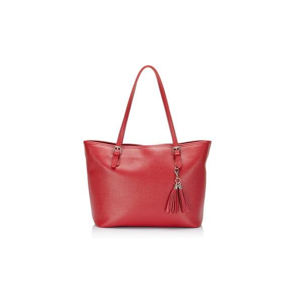 Kožená kabelka Gosha, červená