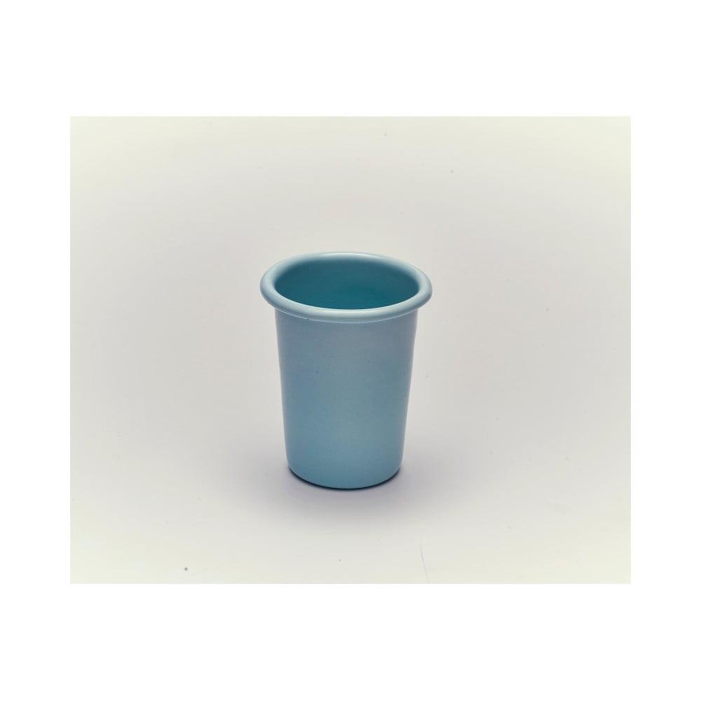Modrý smaltovaný hrneček bez ouška Kapka Back To Basics Pastel, 250ml