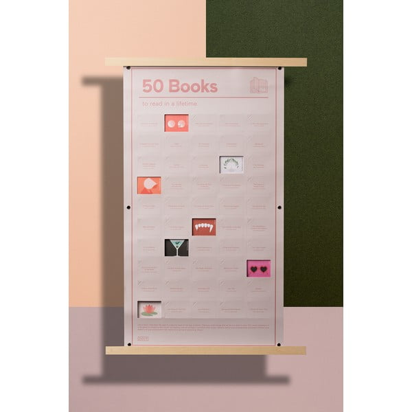 Poster DOIY 50 Books to Read, 35 x 64 cm