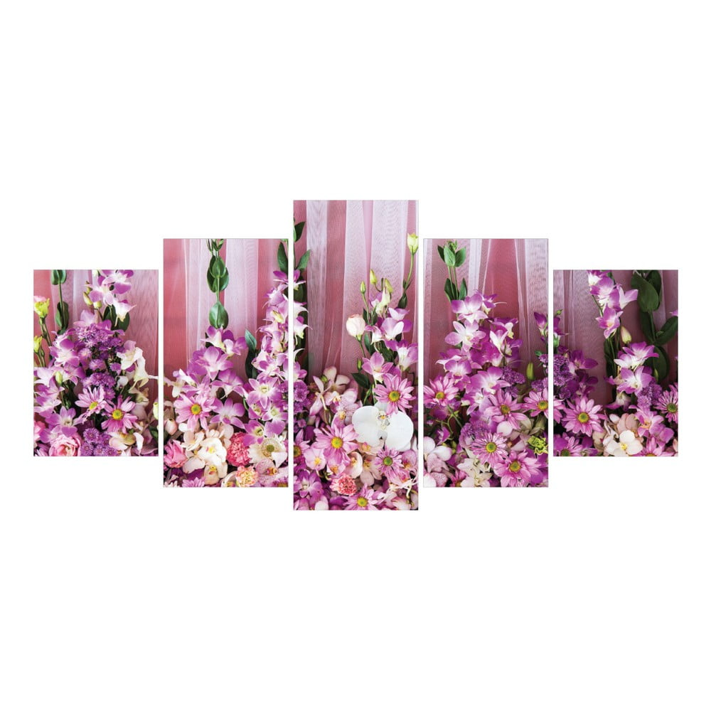 V ced ln obraz la maison des couleurs pink flowers bonami - La maison des couleurs ...
