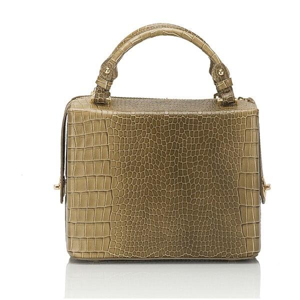 Béžová kožená kabelka Lisa Minardi Luciano