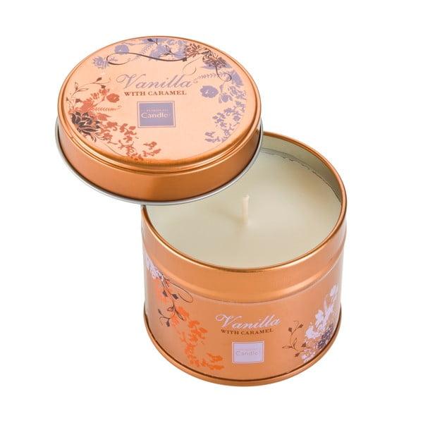 Aroma svíčka v plechovce s vůní vanilky a karamelu Copenhagen Candles, doba hoření 32 hodin