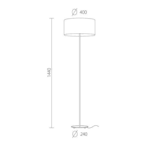 Černostříbrná stojací lampa Sotto Luce Mika, ⌀40 cm