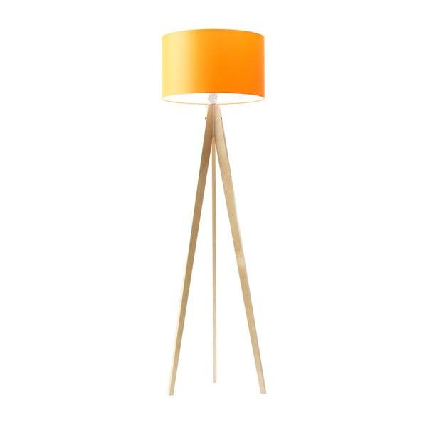 Oranžová stojací lampa 4room Artist, bříza, 150 cm