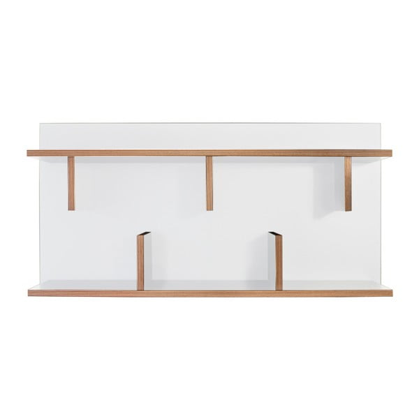 Bílý nástěnný policový systém TemaHome Bern, 230 x 90 cm