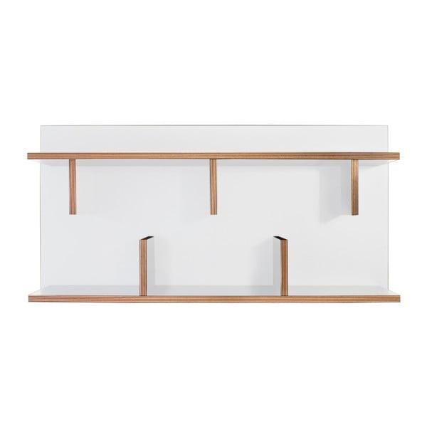 Bern fehér fali polcrendszer, 230 x 90 cm - TemaHome