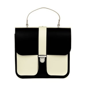 Krémovo-černá kožená kabelka Brix + Bailey Onslow