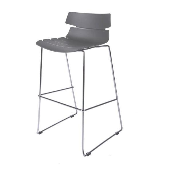 Šedá barová židle D2 Techno