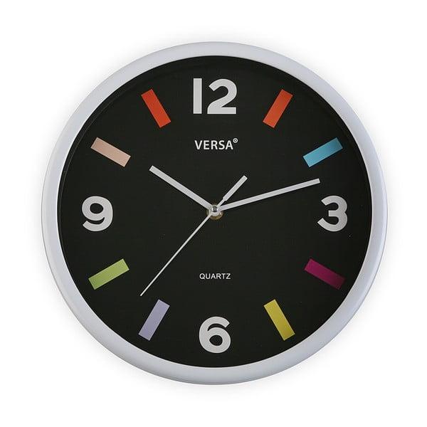 Zegar ścienny z białą ramą Versa Moderna