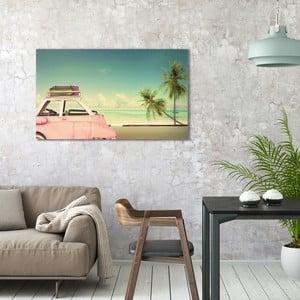 Obraz na plátně OrangeWallz Vitage Car, 70 x 118 cm