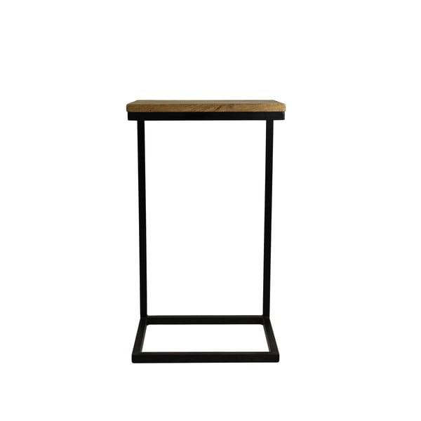 Măsuță auxiliară din lemn de mango HSM Collection Read, 30 x 38 cm