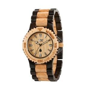 Dřevěné hodinky Date Bicolor Beige and Black