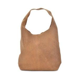 Geantă din piele Mangotti Bags Abelie, maro coniac