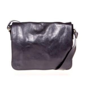 Černá kožená taška přes rameno Italia in Progress Paride
